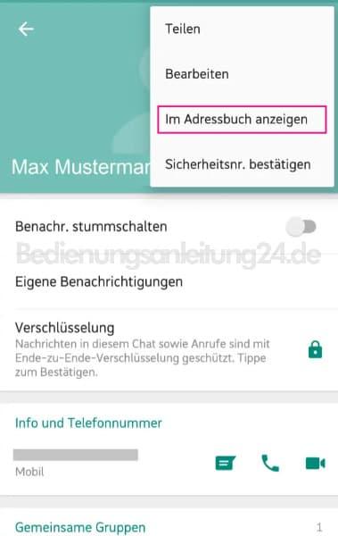 Wie kann ich einen kontakt aus whatsapp löschen